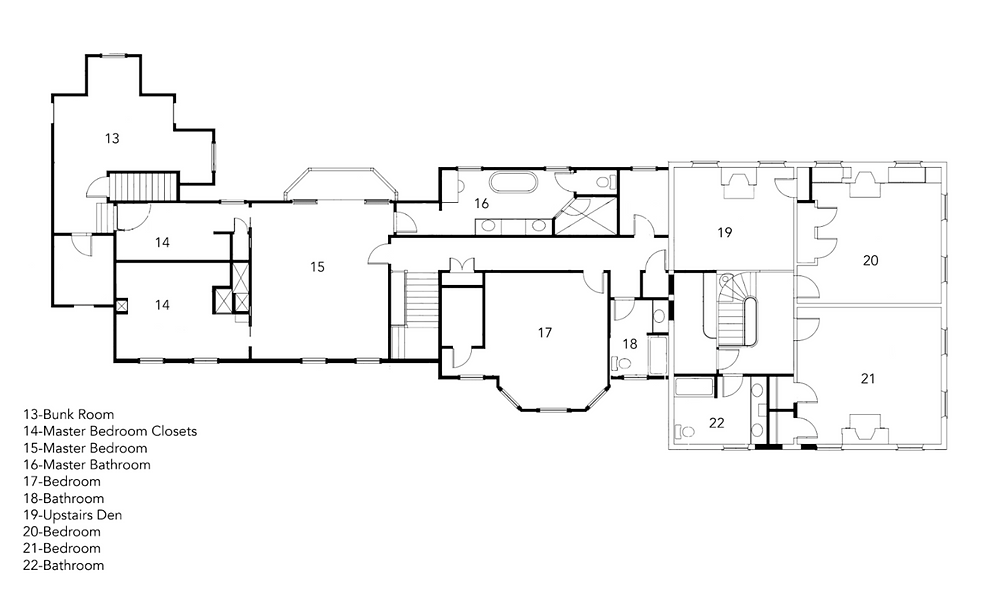 Governor's House Second Floor Plan