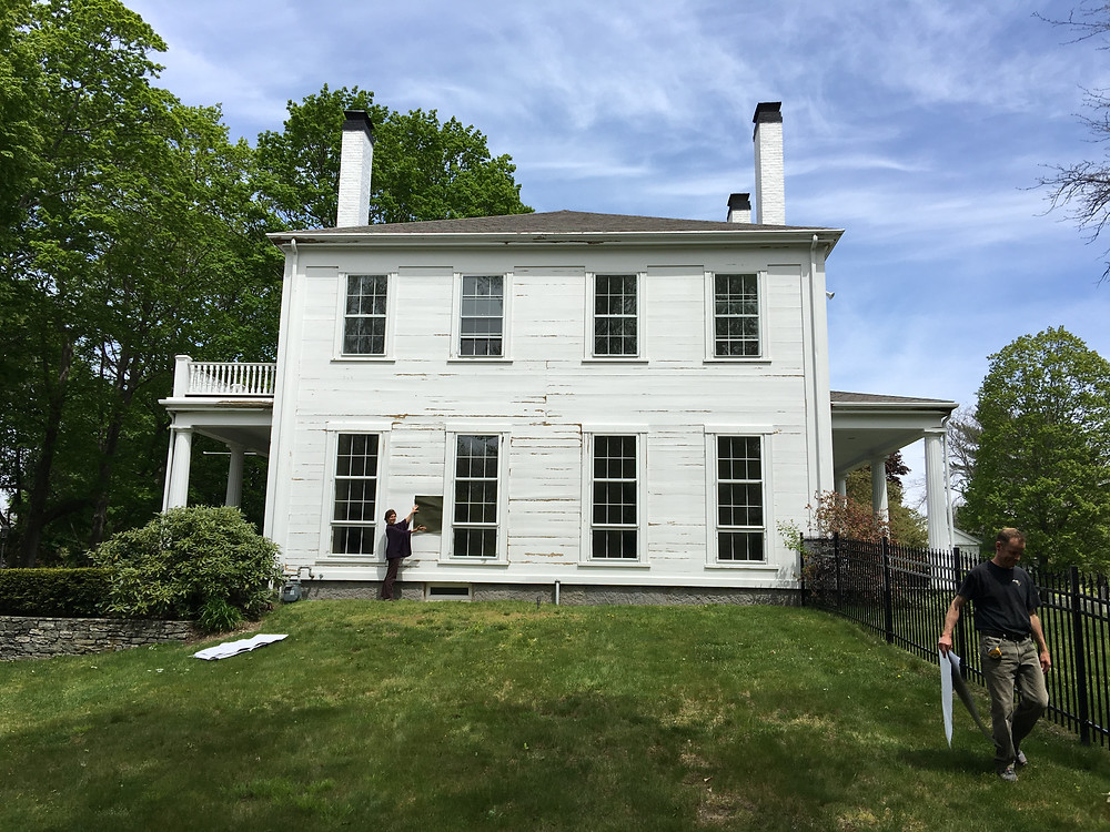 Before - Greek Revival transformation by Lisa Tharp.