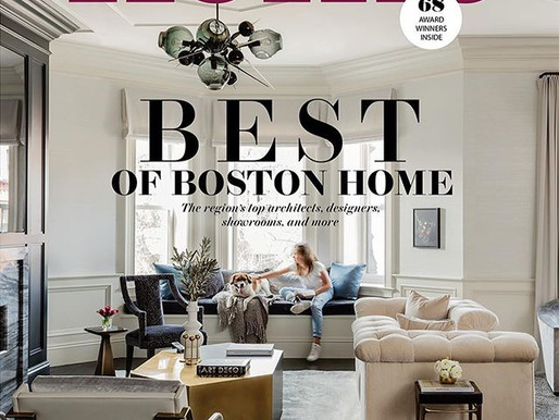 BOSTON HOME Magazine features Lisa Tharp's Governor's House