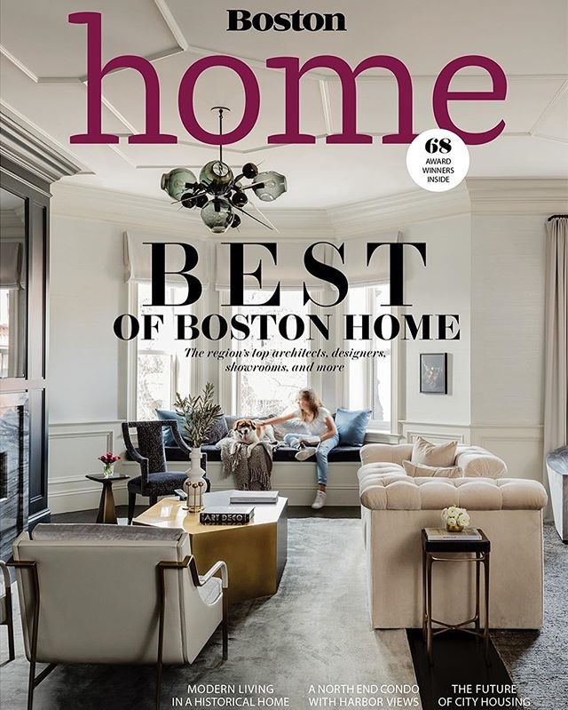 Lisa Tharp feature in Winter 2019 Issue of Boston Home magazine