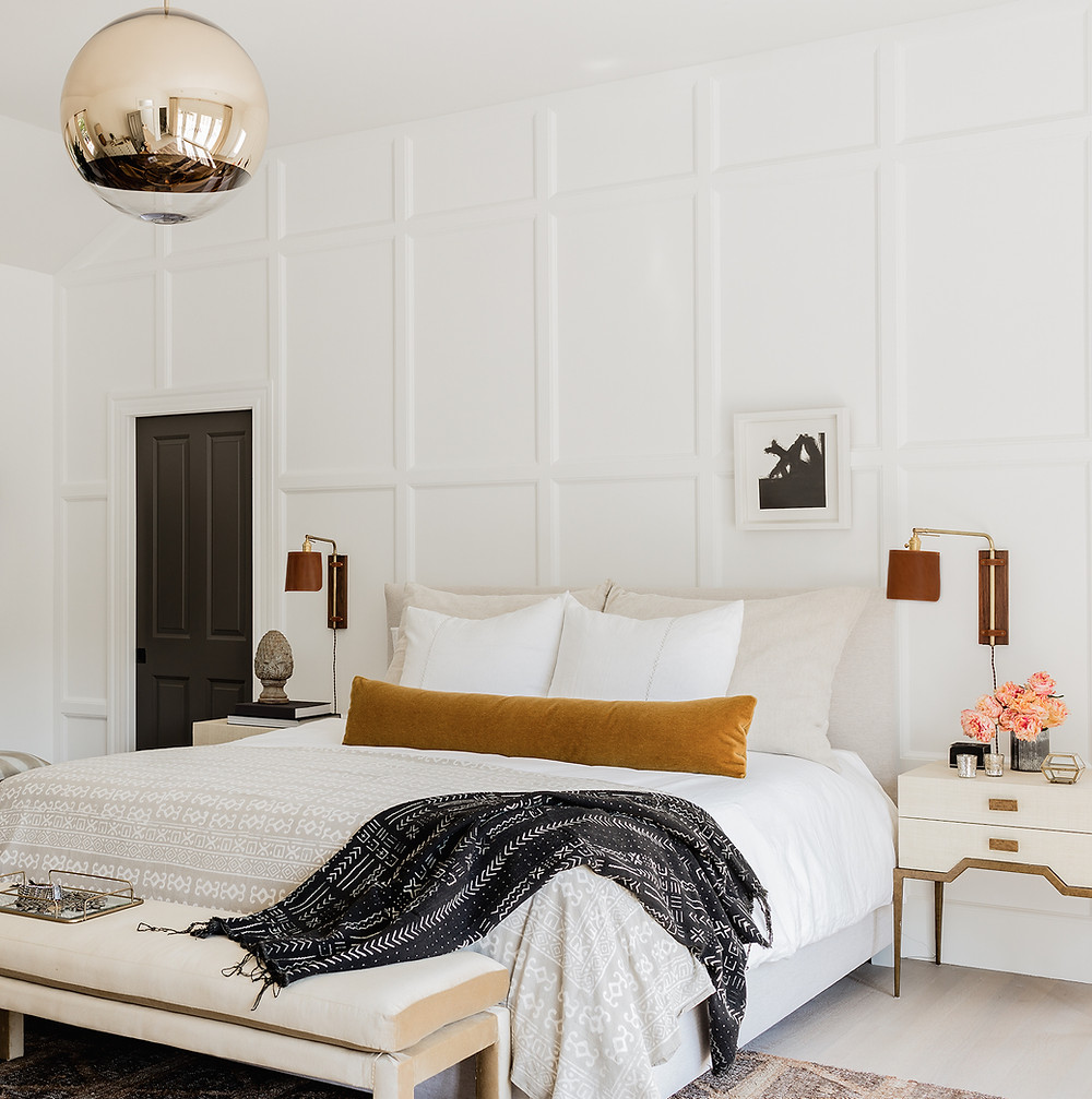Master Bedroom by Lisa Tharp.  Photo by Michael J. Lee.