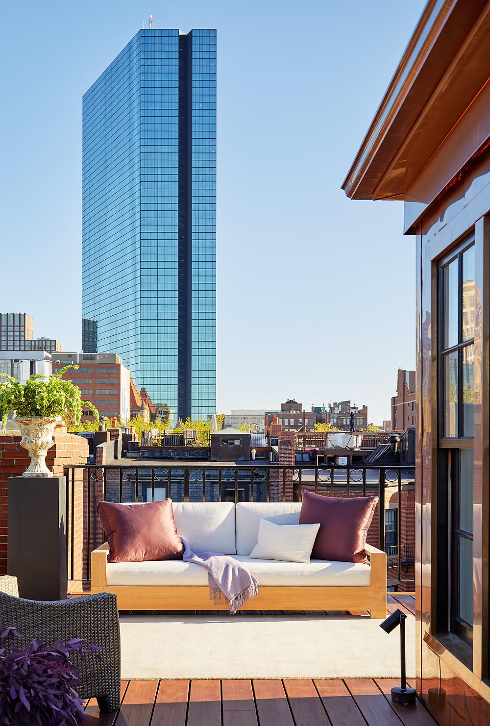 Boston, Lisa Tharp Design, Back Bay, John Hancock, Head House, Roof Deck, Outdoor Furniture