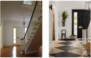 Formal Entry - Before and After.  Interior Architecture + Design by Lisa Tharp.  Photo by Michael J. Lee.