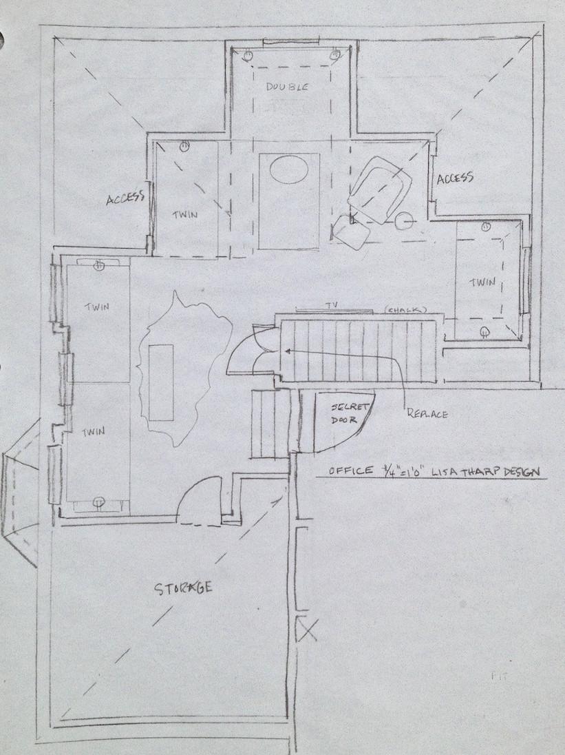 Bunk Room Sketch