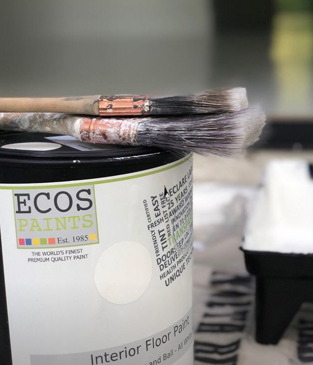 ECOS is the best non-toxic paint brand available. It can be color matched to any major paint brand and delivers right to your door.