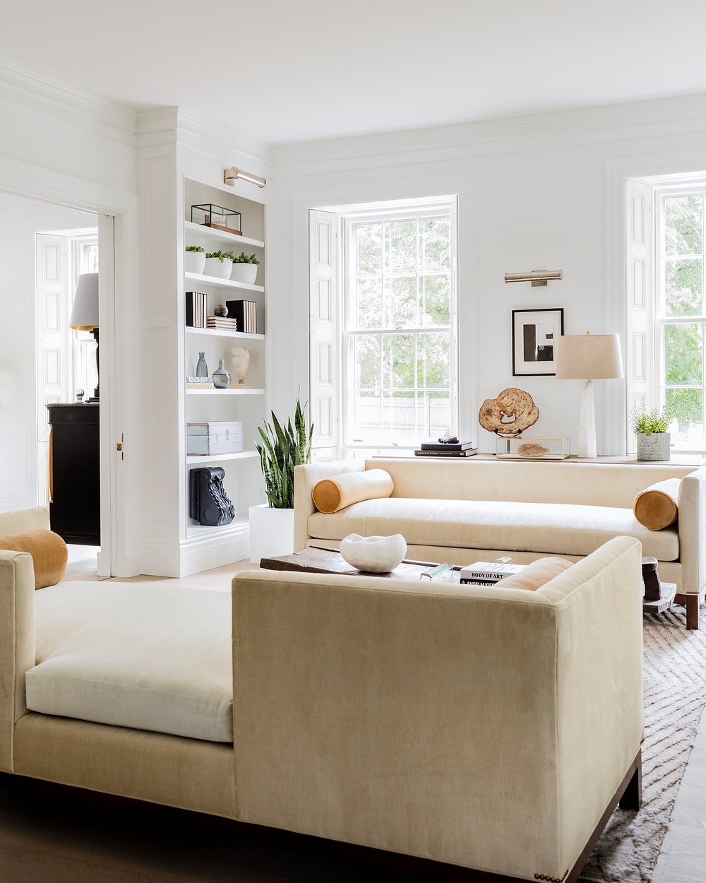 Living Room After.  Interior Architecture + Design by Lisa Tharp.  Photo by Michael J. Lee.