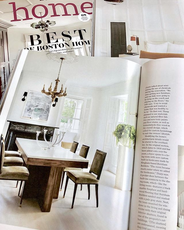 Lisa Tharp design feature in Boston Home magazine