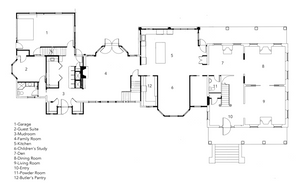 Governor's House Main Floor Plan