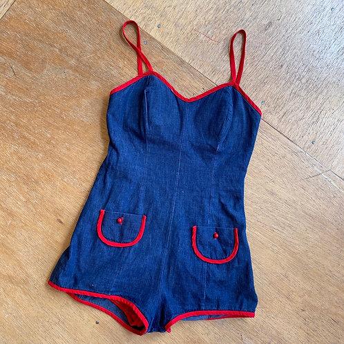 Vintage bathing suit/jumper