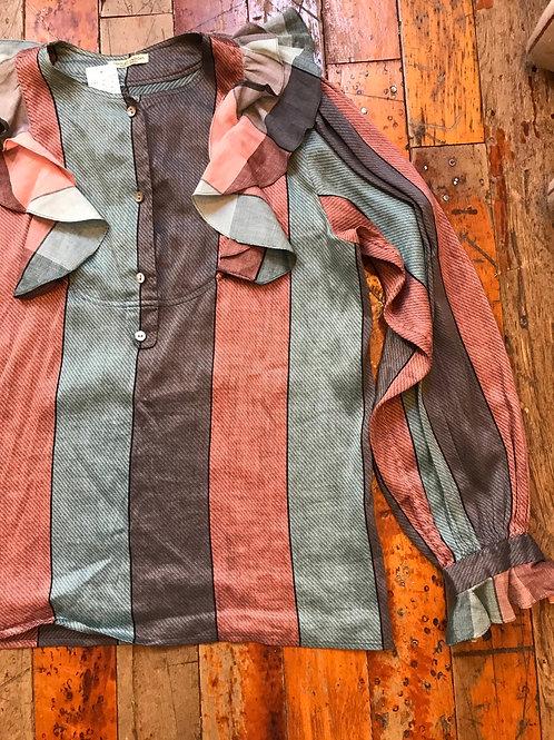 Charles Jourdan top striped blouse