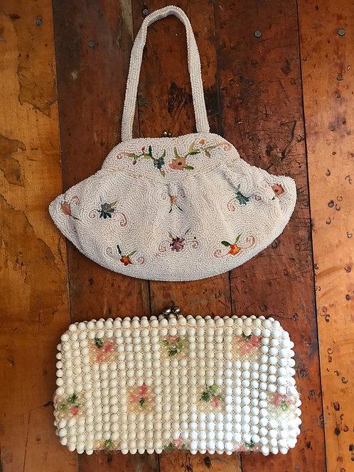 Vintage beaded clutch bag purse