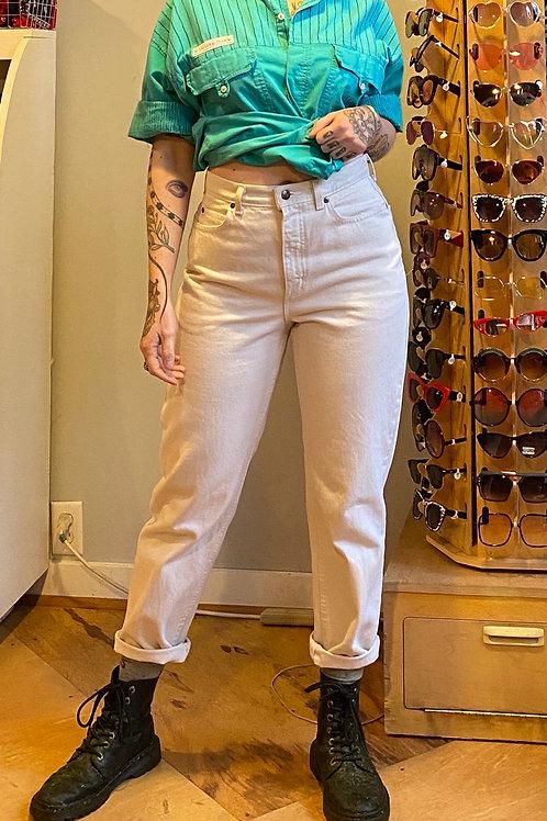 Vintage white mom jeans