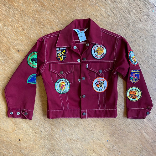 CHILDRENS denim jacket with patches