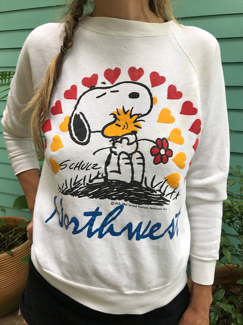 Snoopy and tweety bird Northwest Schulz sweatshirt