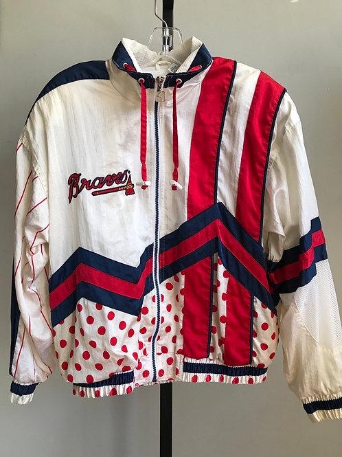 vintage Braves windbreaker jacket