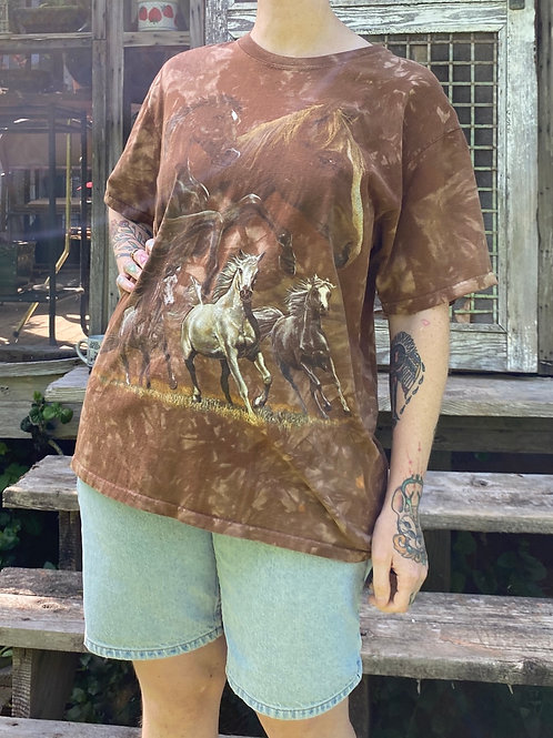 Recycled horse t-shirt