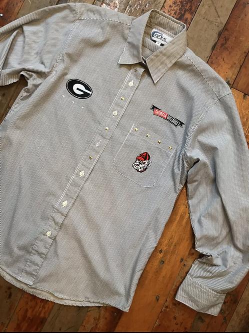 Vintage dawgs striped button down