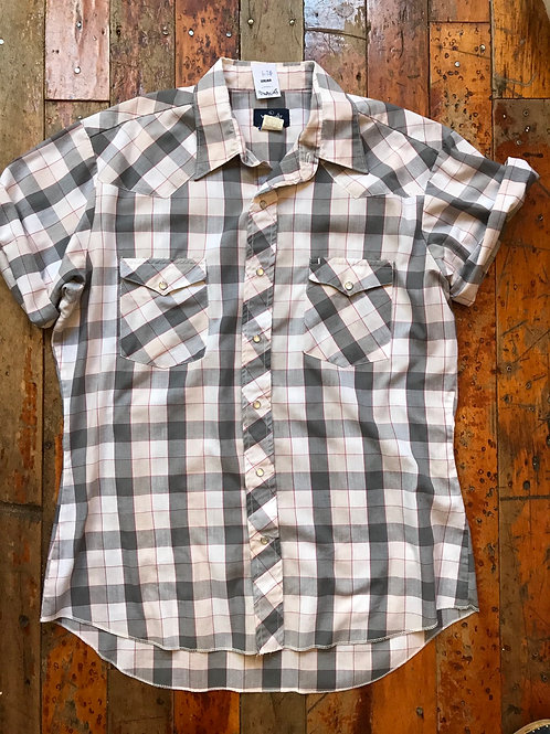 Wrangler plaid Western short sleeve
