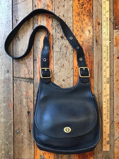 Black leather Coach purse bag