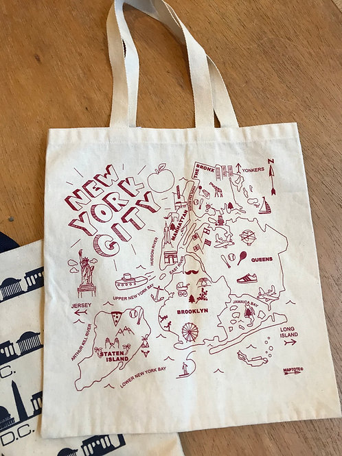 NEW YORK tote canvas bag