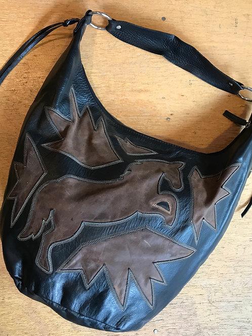 Leather horse theme purse