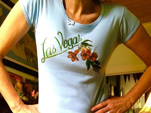 Vintage blue 1980's Las Vegas t