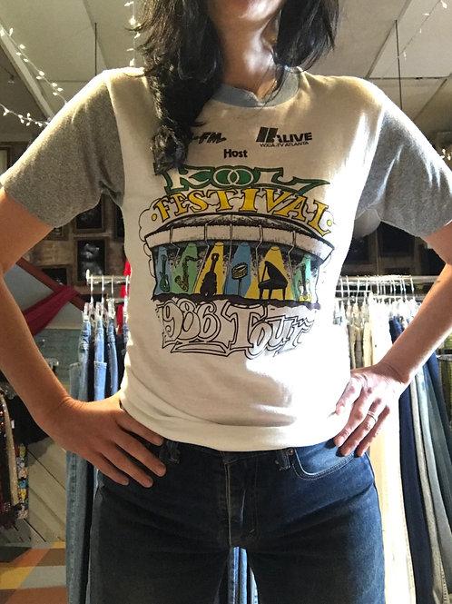 Vintage 80's t-shirt kool festival