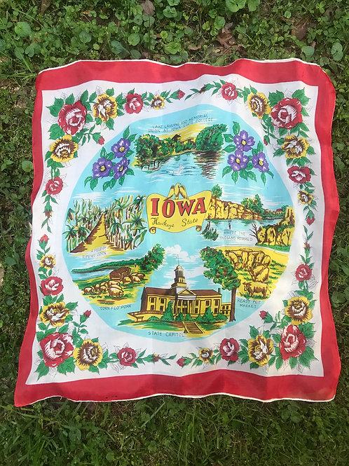Vintage IOWA scarf