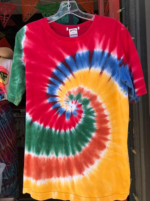 recycled tie dye shirt hippie