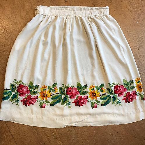 Vintage Hand Cross-Stitched Skirt