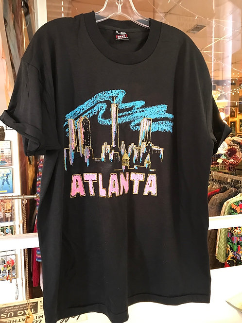 1990's Atlanta black vintage t shirt