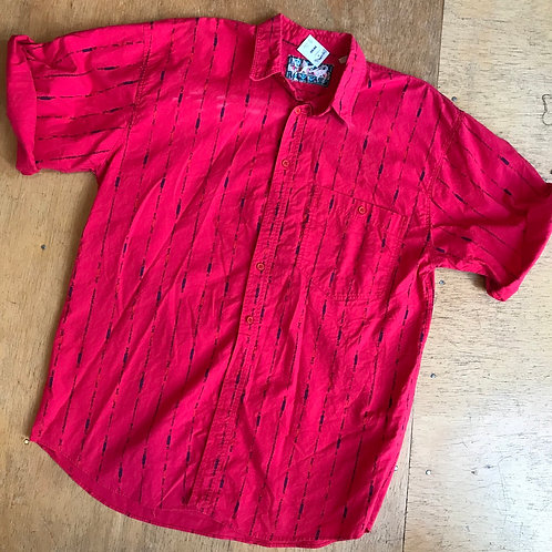 Vintage 80's red button shirt