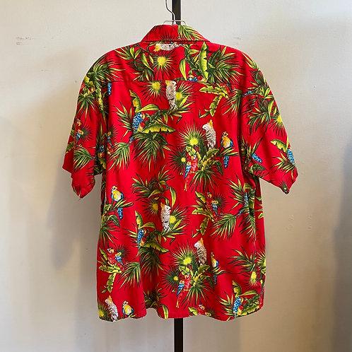 Vintage red parrot Hawaiian