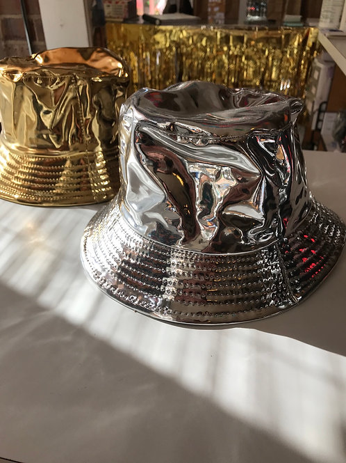 Metallic Bucket hats