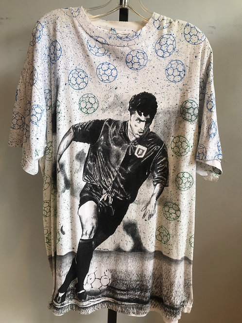 90's all over soccer print T