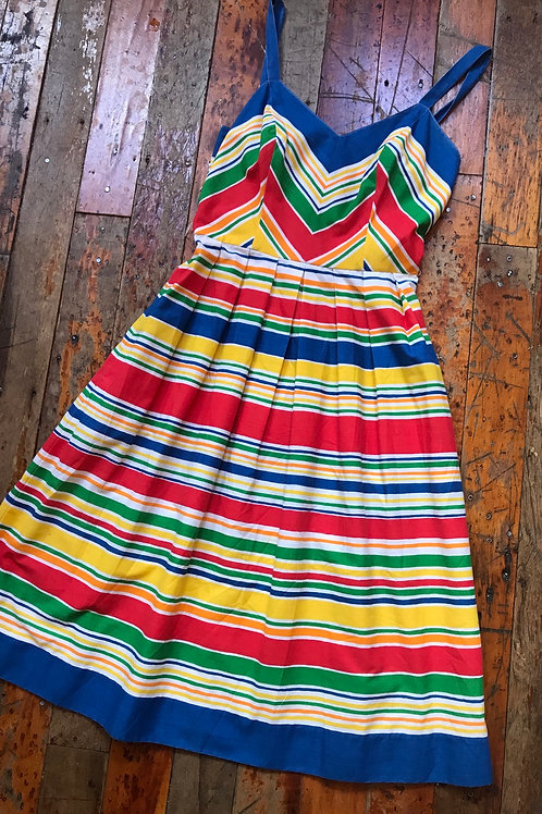 Vintage cotton striped dress