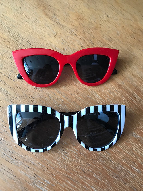 Bulldawg shades striped and red