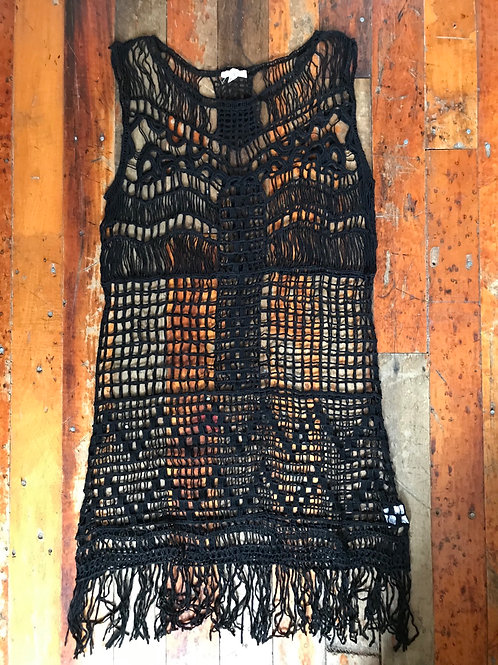 New black crochet dress