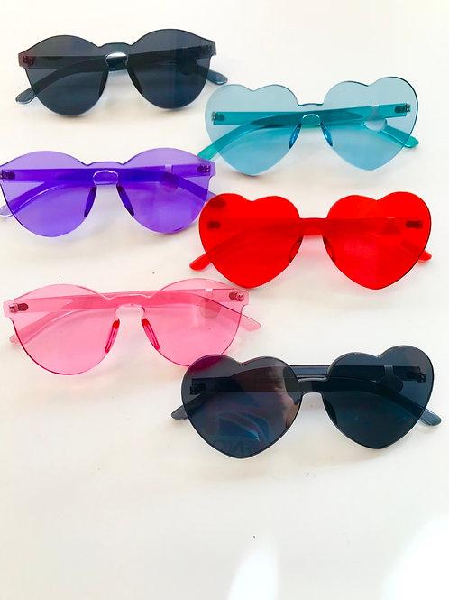 Clear color frameless sunglasses