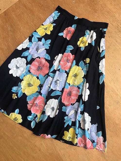 Vintage rayon skirt 26w