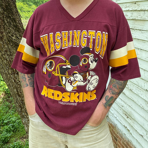 Vintage Wahington Redskins Mickey Mouse jersey