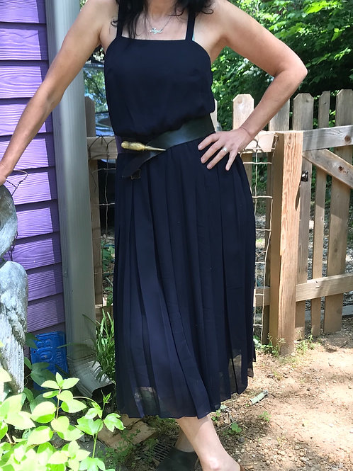 Vintage sheer navy dress