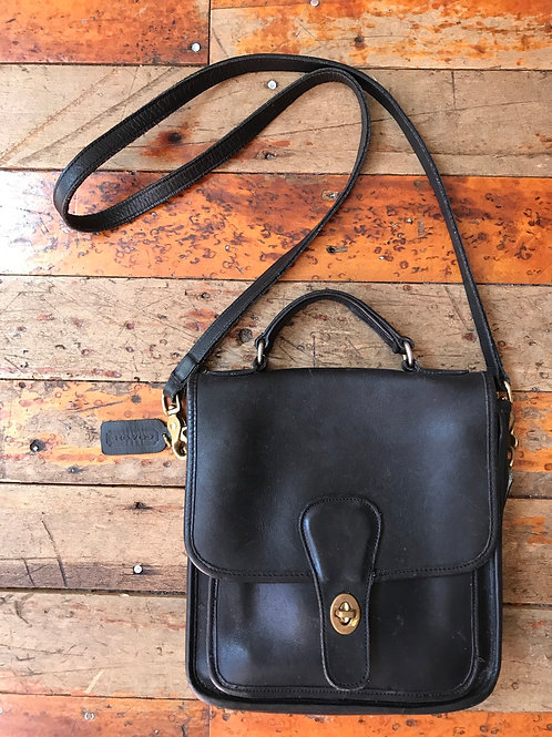Vintage leather Coach bag purse