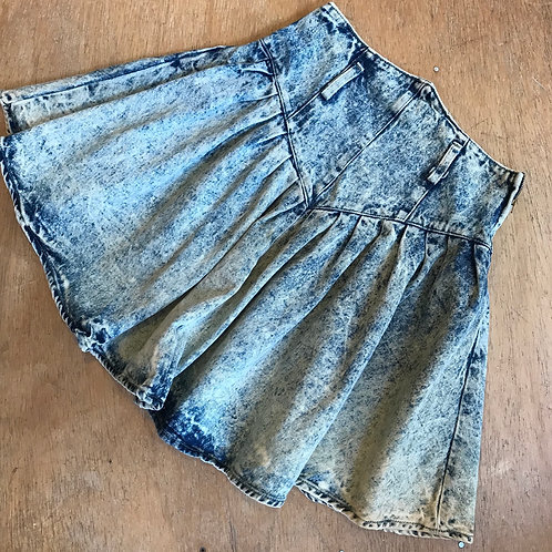 Vintage 80's acid was denim skirt