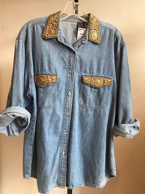 party-ready Vintage denim shirt