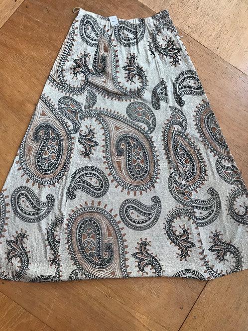 Vintage 70's metallic maxi skirt