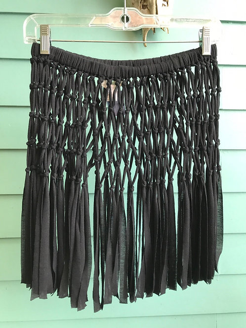 Fun black knotted skirt