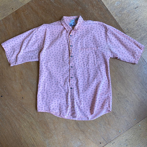 paisley pattern vintage button front shirt