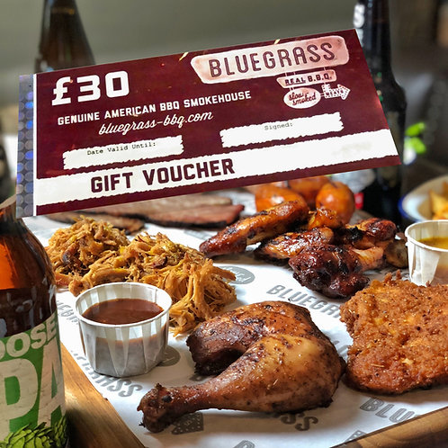 £30 - Bluegrass Gift Voucher