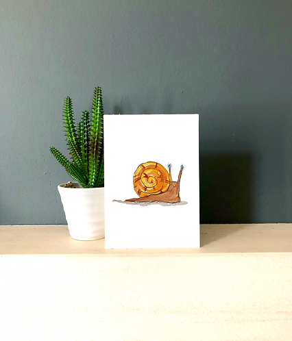 Barbara the snail card